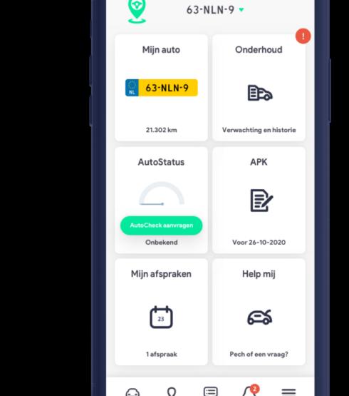 iGarage-app op iPhone